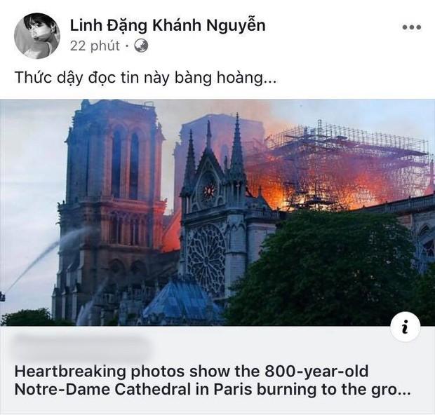 """Giới trẻ Việt đồng loạt đăng status xót xa khi thấy Nhà thờ Đức Bà Paris cháy: """"Cuộc hẹn với nước Pháp đã không còn vẹn nguyên!"""" - Ảnh 3."""