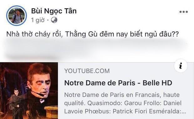 """Giới trẻ Việt đồng loạt đăng status xót xa khi thấy Nhà thờ Đức Bà Paris cháy: """"Cuộc hẹn với nước Pháp đã không còn vẹn nguyên!"""" - Ảnh 5."""