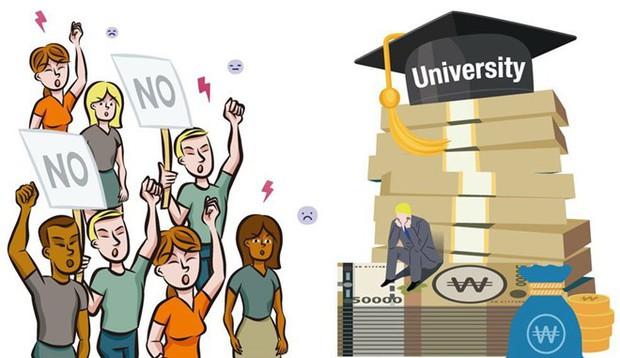Sinh viên và du học sinh tại Hàn Quốc bức xúc vì hàng loạt trường đại học đột nhiên tăng học phí - Ảnh 1.