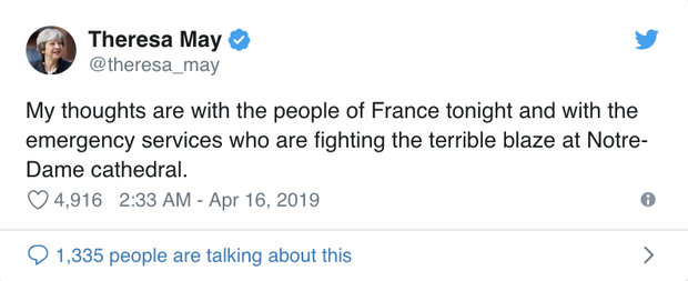 Cháy Nhà thờ Đức Bà Paris: Tổng thống Trump cùng các nguyên thủ quốc gia trên thế giới bày tỏ sự đau lòng trước vụ việc - Ảnh 4.