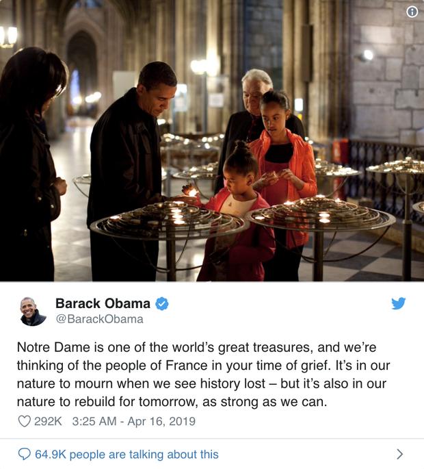 Cháy Nhà thờ Đức Bà Paris: Tổng thống Trump cùng các nguyên thủ quốc gia trên thế giới bày tỏ sự đau lòng trước vụ việc - Ảnh 6.
