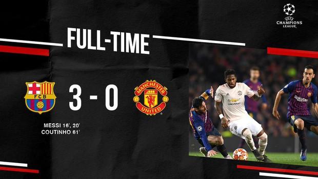 Barcelona 3-0 Man United (4-0): Messi tỏa sáng rực rỡ với cú đúp, chấm dứt hành trình của Man United tại Champions League - Ảnh 3.