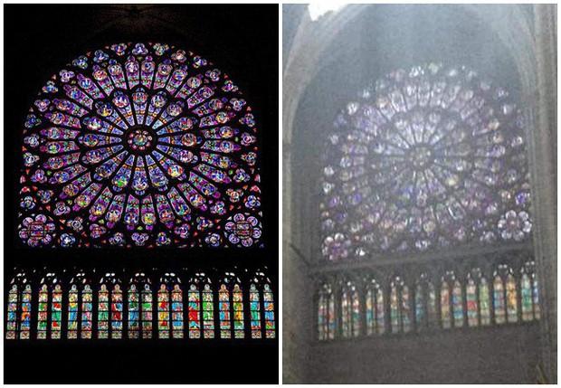 Phát hiện thêm một tuyệt tác của Nhà thờ Đức Bà Paris vẫn gần như còn nguyên vẹn, đứng hiên ngang trước đống tro tàn đổ nát - Ảnh 2.