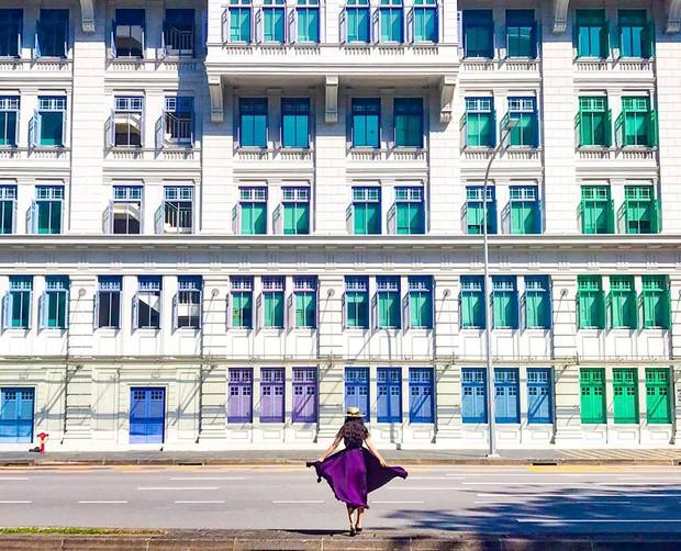 Đứng hình 5s với loạt background bảy sắc cầu vồng trong bộ ảnh du lịch Singapore của cô bạn người Việt xinh như hotgirl  - Ảnh 5.