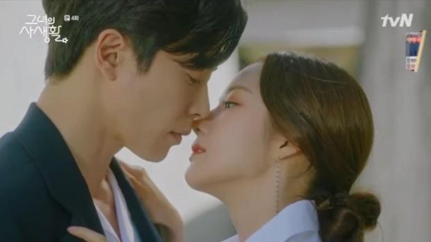 Sướng như Park Min Young, có chủ tịch mặt ngầu đeo tai thỏ làm người tình bình phong trong Her Private Life - Ảnh 3.