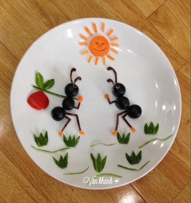 Ngưỡng mộ mẹ 8x làm những đĩa cơm đẹp như mơ cho con khiến cộng đồng mạng dậy sóng - Ảnh 10.