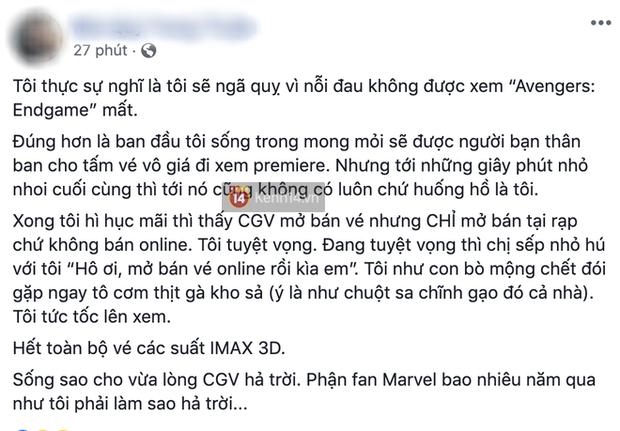 Đã xuất hiện phe vé chợ đen cho Avengers: Endgame tại Việt Nam: Nè em gái, một vé là 300! - Ảnh 6.