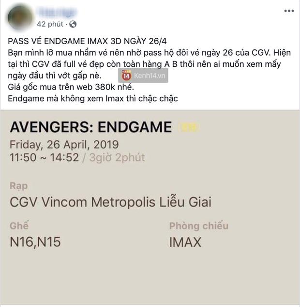 Đã xuất hiện phe vé chợ đen cho Avengers: Endgame tại Việt Nam: Nè em gái, một vé là 300! - Ảnh 5.