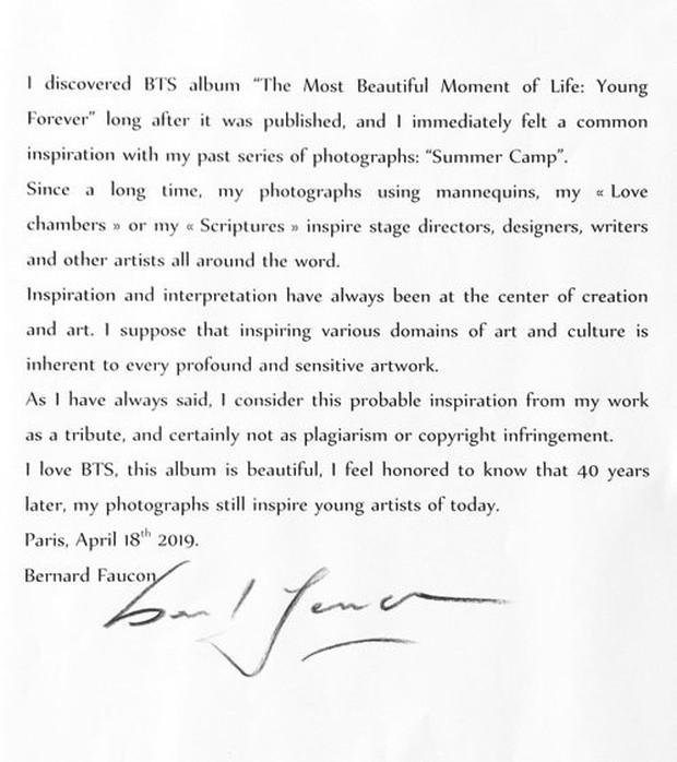 Nhiếp ảnh gia Pháp làm rõ vụ BTS bị tố đạo nhái tác phẩm của mình, netizen nghi YG chơi bẩn với Bighit - Ảnh 1.
