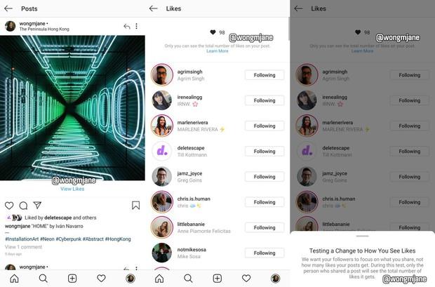 Instagram sắp bỏ đếm Like trên post, chỉ chủ nhân mới xem được tổng lượt Like của mình? - Ảnh 1.