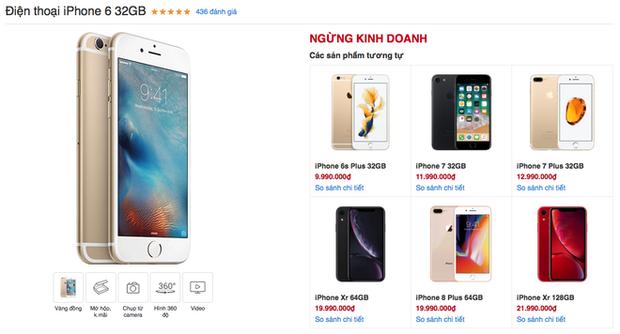 iPhone 6 cuối cùng cũng bị khai tử tại Việt Nam sau hơn 4 năm mở bán tới nay - Ảnh 1.