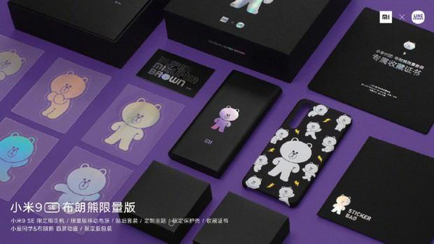 """Xiaomi ra mắt Mi 9 SE phiên bản """"gấu nâu"""" kèm bộ phụ kiện cực cute, giá 8.7 triệu đồng - Ảnh 2."""