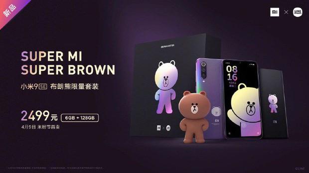 """Xiaomi ra mắt Mi 9 SE phiên bản """"gấu nâu"""" kèm bộ phụ kiện cực cute, giá 8.7 triệu đồng - Ảnh 1."""