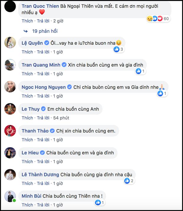 Ngô Kiến Huy, Đức Phúc và dàn sao Việt gửi lời động viên, chia buồn khi hay tin bà ngoại Quốc Thiên qua đời - Ảnh 2.