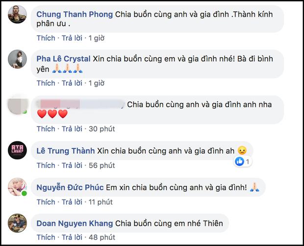 Ngô Kiến Huy, Đức Phúc và dàn sao Việt gửi lời động viên, chia buồn khi hay tin bà ngoại Quốc Thiên qua đời - Ảnh 3.
