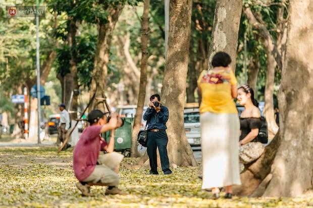 Mùa lá sấu tung bay, người dân kéo tới chụp ảnh ở con đường lãng mạn nhất Thủ đô dù nắng nóng 40 độ C - Ảnh 16.