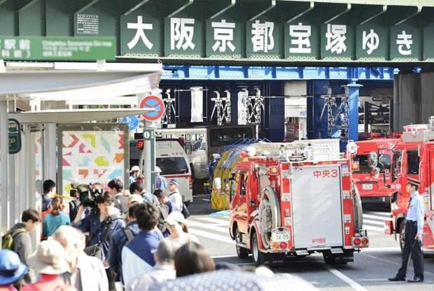 Xe buýt bất ngờ lao vào đám đông ở Nhật Bản, 8 người thương vong - Ảnh 1.