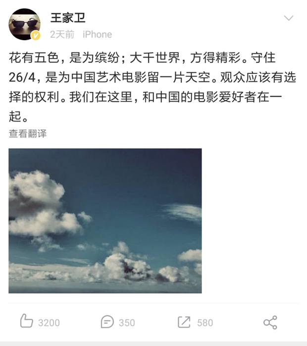 Vừa tuyên bố có con với Song Hye Kyo, Vương Gia Vệ liền cà khịa Endgame tại Trung Quốc - Ảnh 2.