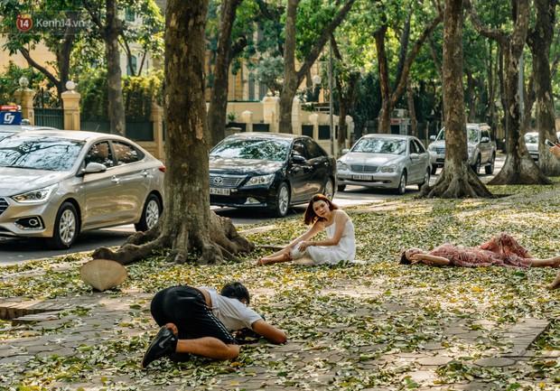 Mùa lá sấu tung bay, người dân kéo tới chụp ảnh ở con đường lãng mạn nhất Thủ đô dù nắng nóng 40 độ C - Ảnh 14.