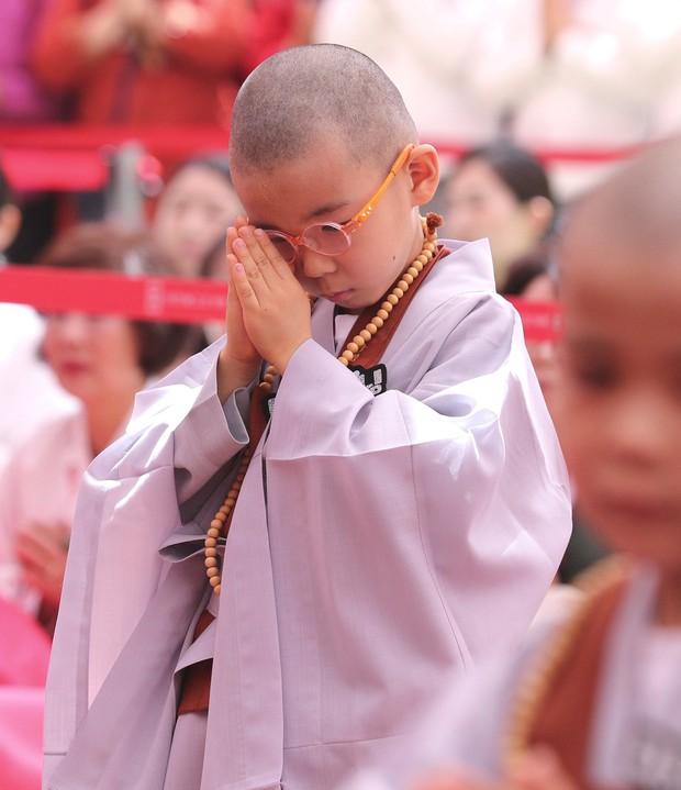 Loạt sắc thái đáng yêu hết nấc của các chú tiểu trong ngày xuống tóc đón lễ Phật Đản ở Hàn Quốc - Ảnh 11.