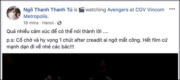 """Xem xong """"Endgame"""", sao Việt khen nức nở và đồng lòng kiềm chế spoil nội dung phim - Ảnh 2."""