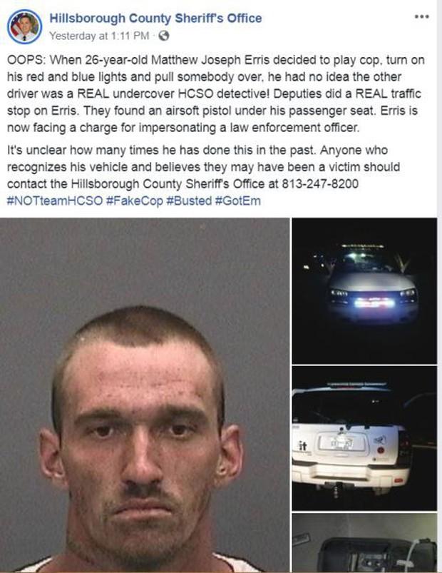 Mỹ: Đóng giả làm cảnh sát rồi bắt nạt nhầm cảnh sát xịn đang giả làm dân thường, thanh niên chơi dại xộ khám - Ảnh 3.