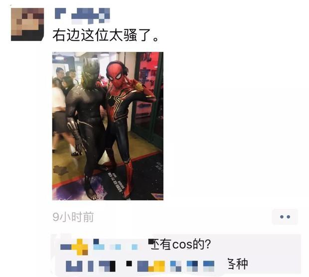 Fan Trung khoe độ lắm trò khi xem bom tấn Endgame: Cosplay lồng lộn, xả láng sáng về sớm! - Ảnh 4.