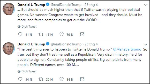 Tổng thống Mỹ mời riêng các sếp Twitter đến họp: Cứ tưởng được khen, hóa ra là bị hỏi tội - Ảnh 2.