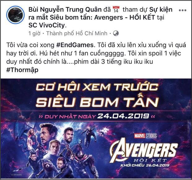 """Xem xong """"Endgame"""", sao Việt khen nức nở và đồng lòng kiềm chế spoil nội dung phim - Ảnh 12."""