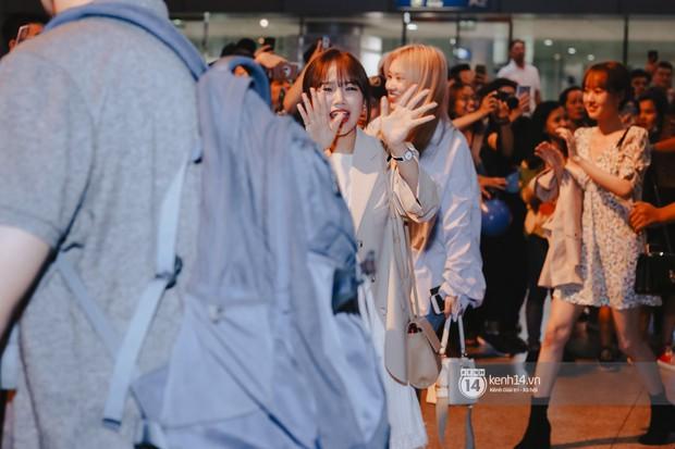 Nữ thần Irene khoe nhan sắc đời thực cực phẩm, Red Velvet và Weki Meki vỡ òa trước biển fan tại sân bay Tân Sơn Nhất - Ảnh 10.