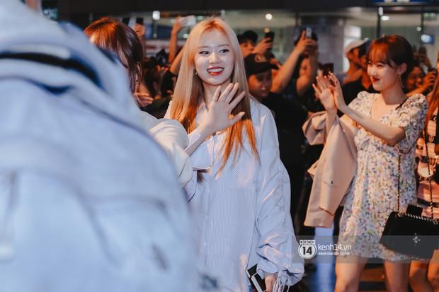 Nữ thần Irene khoe nhan sắc đời thực cực phẩm, Red Velvet và Weki Meki vỡ òa trước biển fan tại sân bay Tân Sơn Nhất - Ảnh 11.