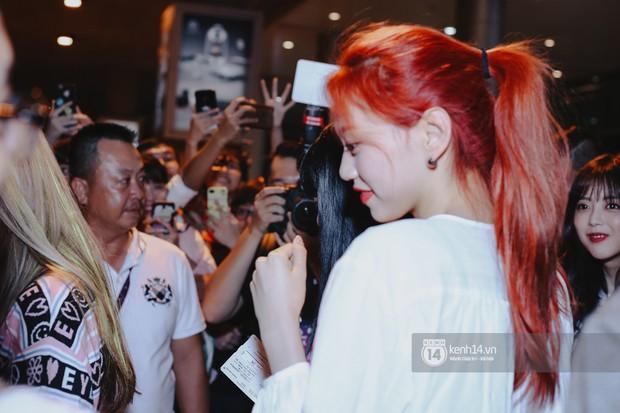 Nữ thần Irene khoe nhan sắc đời thực cực phẩm, Red Velvet và Weki Meki vỡ òa trước biển fan tại sân bay Tân Sơn Nhất - Ảnh 13.