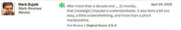 Giới phê bình mạnh tay chê ENDGAME: 9 điểm can đảm, 1 điểm nội dung - Ảnh 11.