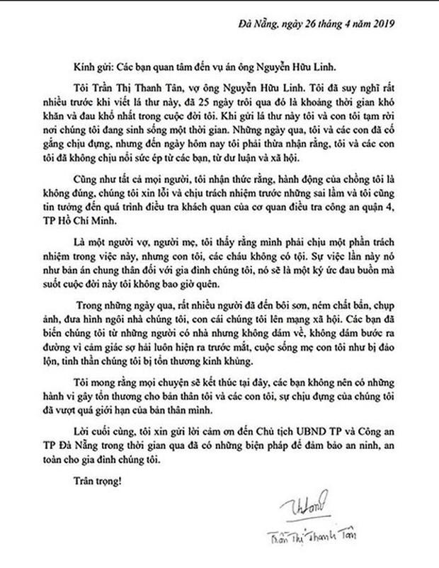 """Vợ ông Nguyễn Hữu Linh đau đớn gửi tâm thư: """"Các bạn đừng nên làm tổn thương tôi và các con tôi nữa, sự chịu đựng của chúng tôi đã vượt quá giới hạn rồi"""" - Ảnh 2."""