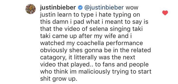 Bị netizen phát hiện Selena xuất hiện trong phần lịch sử tìm kiếm web, Justin Bieber giải thích ra sao? - Ảnh 3.