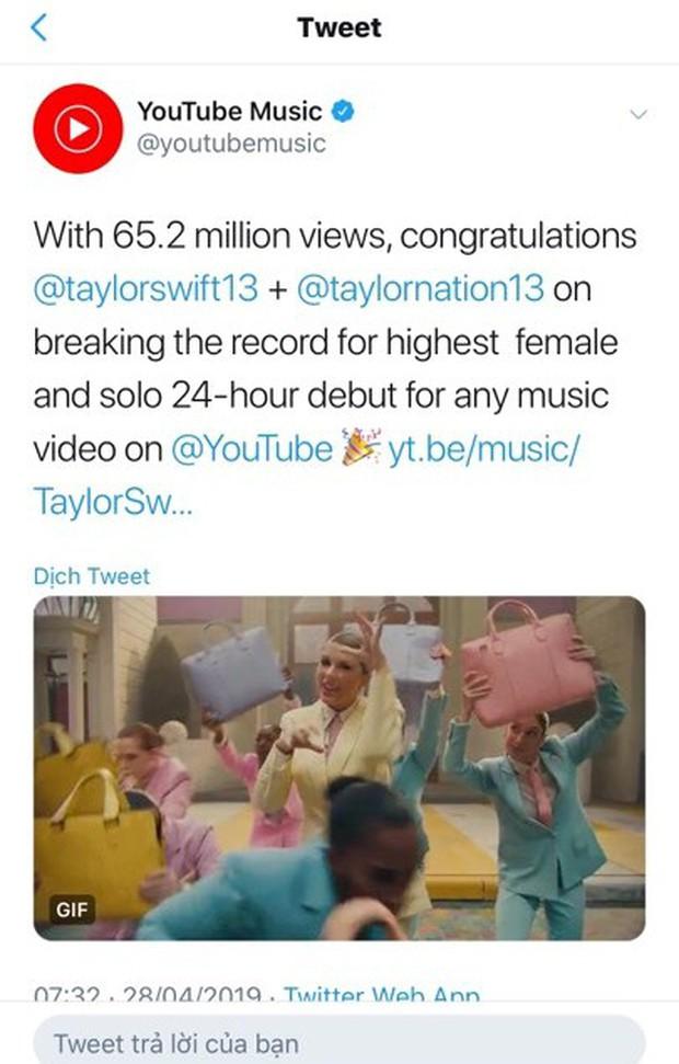 YouTube chính thức nhả view cho Me! - Taylor Swift sau 24h đầu: Kịch bản BlackPink lặp lại! - Ảnh 2.