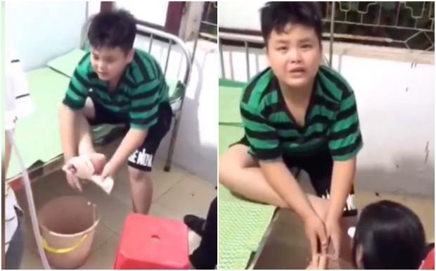 Clip vừa thương vừa cười mệt nghỉ: Cậu bé giẫm chân vào mảnh sành, một mực tự tháo băng trong nước mắt và ngàn lời thều thào than vãn - Ảnh 2.