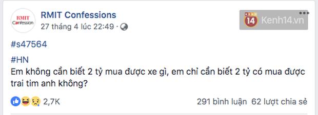 Đúng là trường con nhà giàu nhất nhì Việt Nam, sinh viên RMIT lên Confessions hỏi mua BMW hay Merc để đi học, nhà có 7 tỷ thì làm gì? - Ảnh 5.