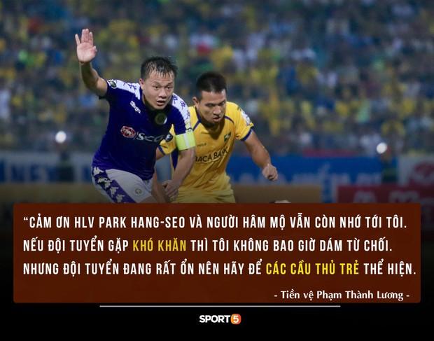 HLV Park mời Thành Lương quay lại đội tuyển Việt Nam và đây là câu trả lời của anh khiến người người cảm động - Ảnh 1.