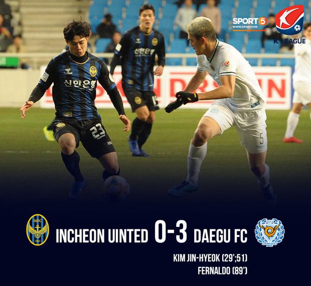 Incheon United 0-3 Daegu FC: Đội nhà thua đậm trong trận đầu tiên Công Phượng đá chính tại K.League - Ảnh 2.