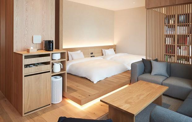 Không chỉ bán mỹ phẩm, Muji Nhật vừa khai trương khách sạn phong cách tối giản, giá sương sương 3 triệu/đêm - Ảnh 6.