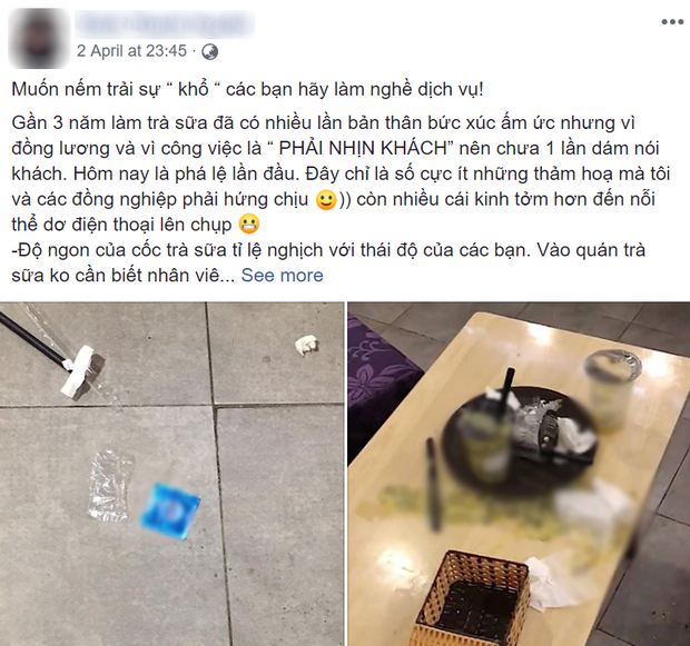Khách đến rồi đi để lại đống rác nhìn đến ngán ngẩm ở quán trà sữa: Ý thức của các bạn trẻ kém đến vậy sao? - Ảnh 1.