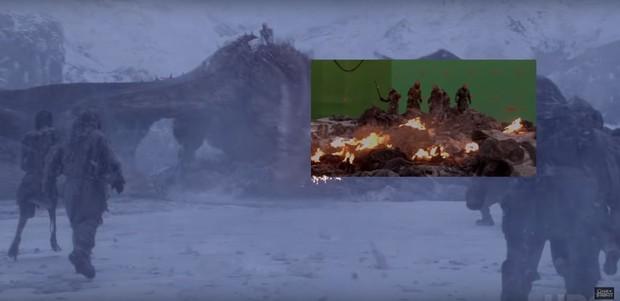 Cạn lời với hậu trường Game of Thrones: Hóa ra chú rồng uy dũng trên phim cũng chỉ là... thú nhún - Ảnh 8.