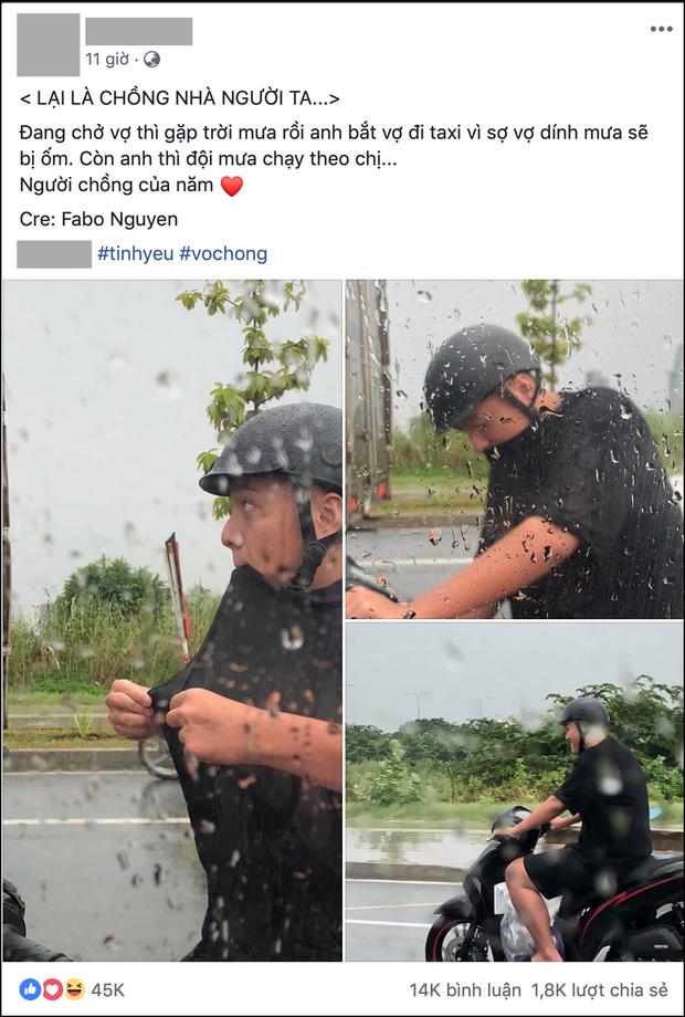 Chồng nhà người ta: Bắt vợ đi taxi cho đỡ mưa còn mình chạy xe máy đuổi theo, danh tính lại càng gây bất ngờ - Ảnh 1.