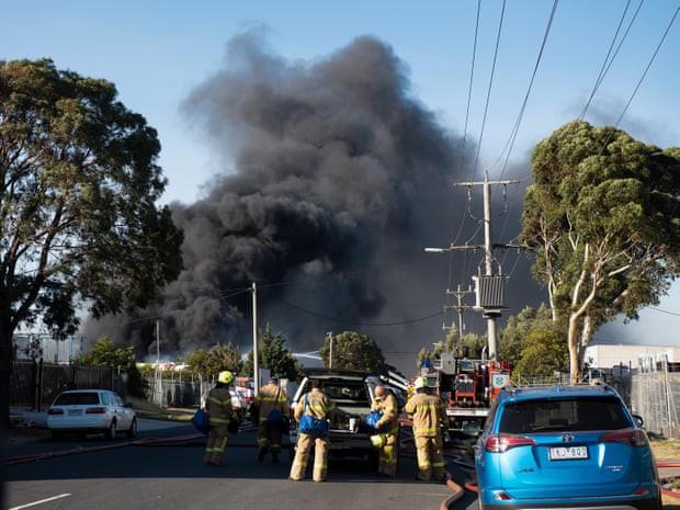 Cháy lớn tại một nhà máy ở Melbourne, Australia  - Ảnh 1.