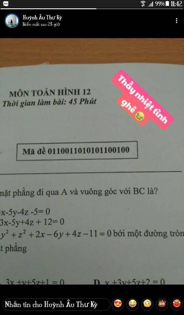 Khi thầy cô sở hữu IQ 200 làm mã đề thi: Chỉ thêm 1 dấu chấm, 1 dấu phẩy cũng khiến học sinh khóc thét - Ảnh 4.