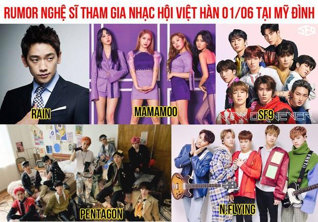 Xôn xao tin đồn Bi Rain, MAMAMOO cùng nhiều nghệ sĩ Hàn sẽ tới Hà Nội biểu diễn vào ngày 1/6? - Ảnh 1.