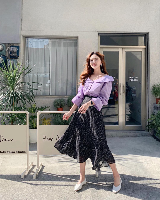 Chân váy dài + áo sơ mi: Combo luôn đúng giúp che mọi khuyết điểm từ bắp tay to, eo lớn, chân cong… cho nàng công sở - Ảnh 4.
