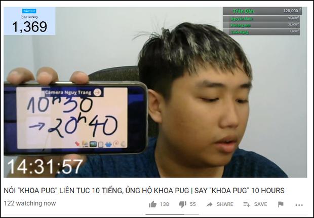 YouTuber quyết tâm hô Khoa Pug 10 tiếng liên tục không nghỉ để ủng hộ idol - Ảnh 2.