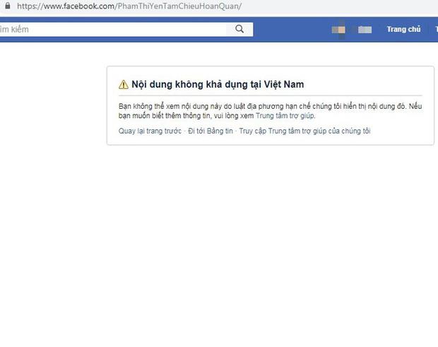 Facebook khóa 2 tài khoản của bà Phạm Thị Yến chùa Ba Vàng - Ảnh 2.